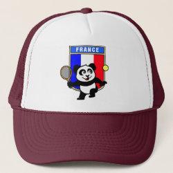 Trucker Hat with French Tennis Panda design