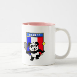 French Tennis Panda Two-Tone Mug