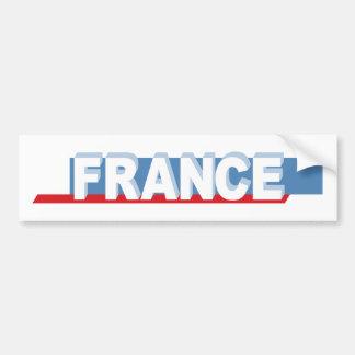 France - textual design bumper sticker