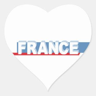 France - textual design heart sticker