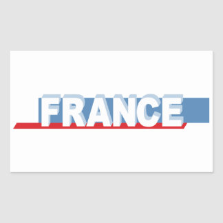 France - textual design rectangular sticker