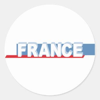 France - textual design round sticker