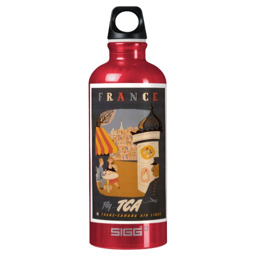 France Travel Poster bottle SIGG Traveler 0.6L Water Bottle