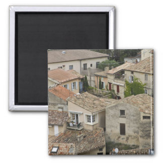 France, Vaison la Romaine. Looking down on 2 Inch Square Magnet