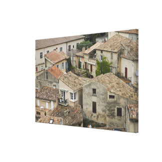 France, Vaison la Romaine. Looking down on Canvas Prints