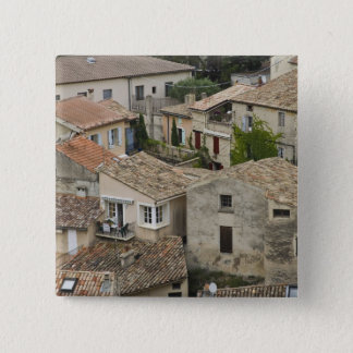 France, Vaison la Romaine. Looking down on Pinback Button