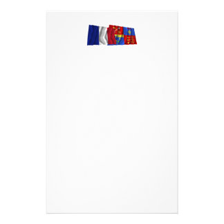 France & Vaucluse waving flags Stationery