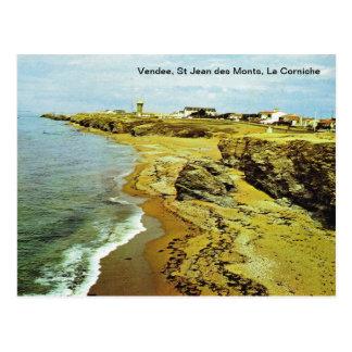 France, Vendee, St Jean des Monts, La corniche Postcard