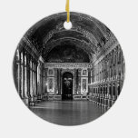 France Versailles palace mirrors gallery 1970 Double-Sided Ceramic Round Christmas Ornament