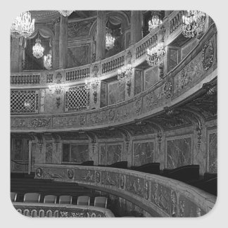 France Versailles palace opera house 1970 Square Sticker
