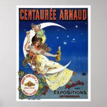France Vintage Advertising Poster Restored