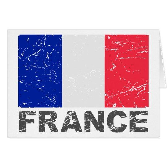 France Vintage Flag Card