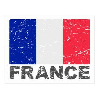 France Vintage Flag Postcard