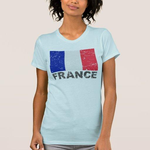 France Vintage Flag Tees