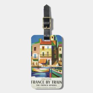 FRANCE Vintage Travel luggage tag