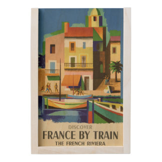 FRANCE Vintage Travel wooden keepsake box