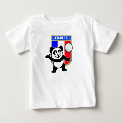 Baby Fine Jersey T-Shirt with France Volleyball Panda design