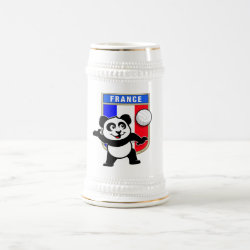 Stein with France Volleyball Panda design