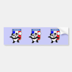 Bumper Sticker with France Volleyball Panda design
