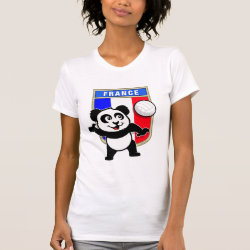 Women's American Apparel Fine Jersey Short Sleeve T-Shirt with France Volleyball Panda design