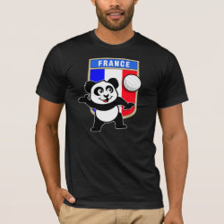 Men's Basic American Apparel T-Shirt with France Volleyball Panda design