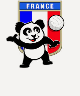France Volleyball Panda Tee Shirt