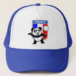 France Volleyball Panda Trucker Hat