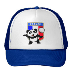Trucker Hat with France Volleyball Panda design