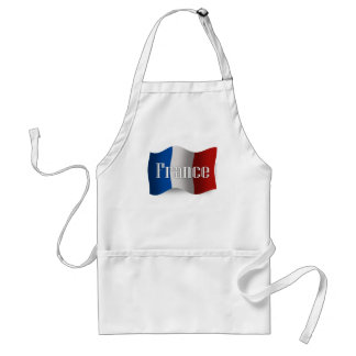 France Waving Flag Adult Apron
