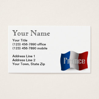 France Waving Flag Business Card