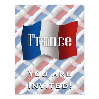 France Waving Flag Card