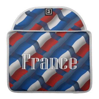France Waving Flag MacBook Pro Sleeves