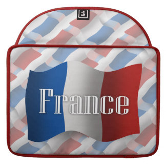 France Waving Flag Sleeves For MacBook Pro