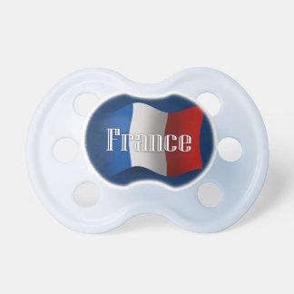 France Waving Flag Pacifier