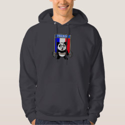 Men's Basic Hooded Sweatshirt with France Weightlifting Panda design