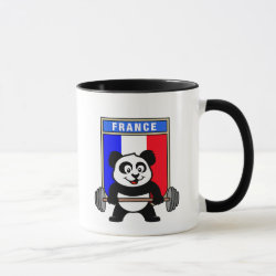 Combo Mug with France Weightlifting Panda design