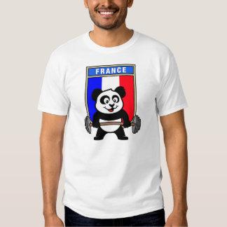 France Weightlifting Panda Shirt