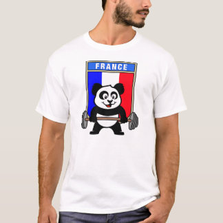 France Weightlifting Panda T-Shirt