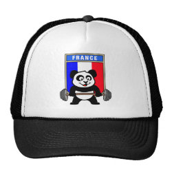 Trucker Hat with France Weightlifting Panda design