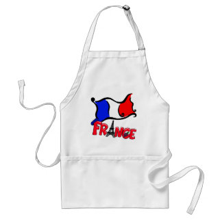 France with Flag Products Adult Apron