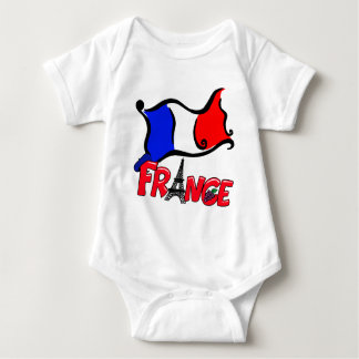 France with Flag Products Baby Bodysuit