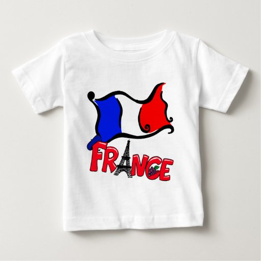 France with Flag Products Baby T-Shirt