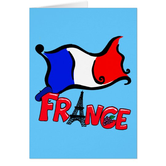 France with Flag Products Card