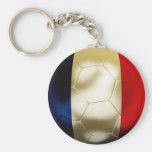France World Basic Round Button Keychain