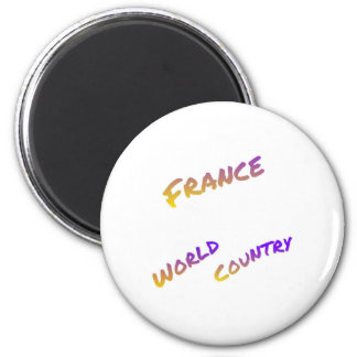 France world country, colorful text art magnet
