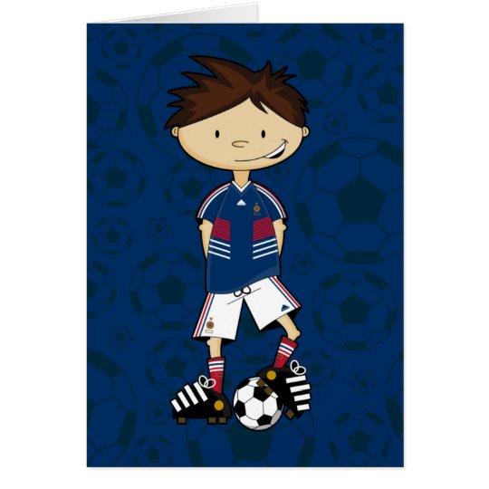 France World Cup Soccer Boy Card