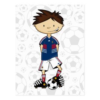France World Cup Soccer Boy Postcard
