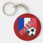 FRANCE World Soccer Fan Tshirts Basic Round Button Keychain