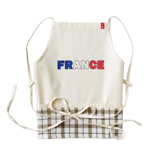 France Zazzle HEART Apron