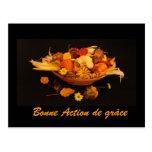Francés: Acción de gracias feliz Tarjetas Postales